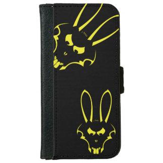 黄色いJ.Rabbitのロゴの電話箱 iPhone 6/6s ウォレットケース