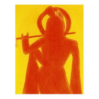 黄色いKrishna ポストカード