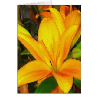 黄色いLillyの花のフェスティバルカード カード