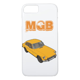 黄色いMGB GT iPhone 8/7ケース
