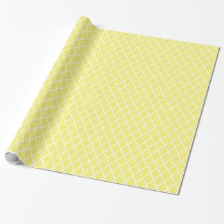 黄色いQuatrefoilパターンギフト用包装紙 ラッピングペーパー