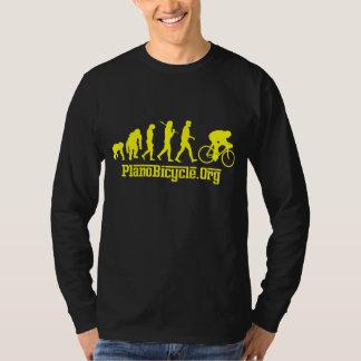 黄色いRosso黄色いジャージーのサイクリングの進化 Tシャツ