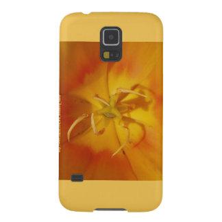 黄色およびオレンジチューリップのSamsungの銀河系S5の箱 Galaxy S5 ケース