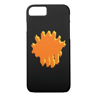 黄色およびオレンジデザイン iPhone 8/7ケース