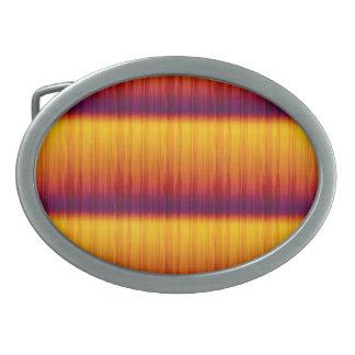 黄色およびオレンジパターンベルトの留め金 卵形バックル