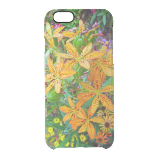 黄色およびオレンジユリの庭のiPhoneの箱 クリアiPhone 6/6Sケース