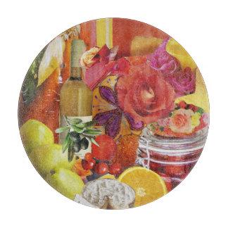 黄色およびオレンジ料理用のまな板 カッティングボード