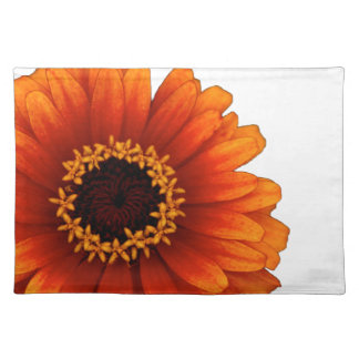 黄色およびオレンジ花のランチョンマット ランチョンマット