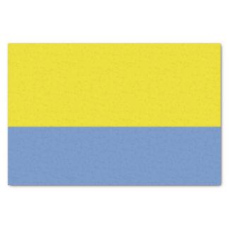 黄色およびスカイブルーのティッシュペーパー 薄葉紙