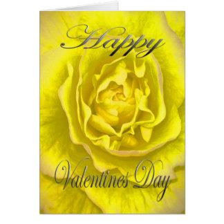 黄色およびピンクのバレンタインの花 カード
