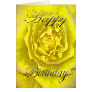 黄色およびピンクの誕生日の花 カード