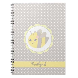 黄色および灰色のベビーの蜂 ノートブック