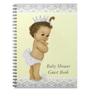 黄色および灰色のベビーシャワーの来客名簿 ノートブック