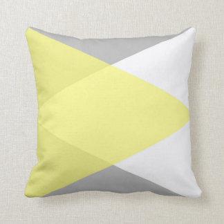 黄色および灰色の恋人 クッション
