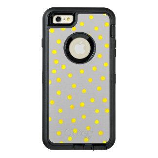 黄色および灰色の紙吹雪の点 オッターボックスディフェンダーiPhoneケース