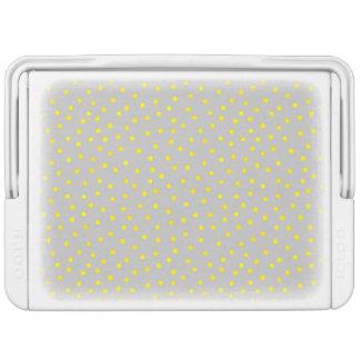 黄色および灰色の紙吹雪の点 IGLOOクーラーボックス