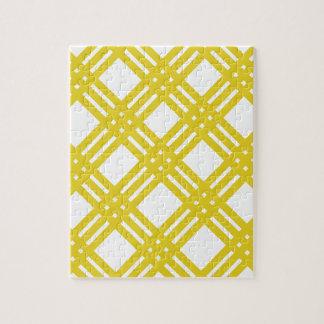 黄色および白いギンガム ジグソーパズル