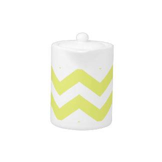 黄色および白いシェブロンは縞で飾ります
