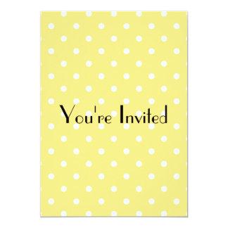 黄色および白い水玉模様パターン カード
