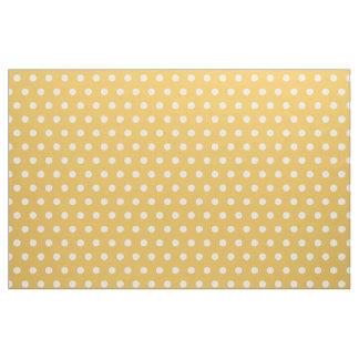 黄色および白い水玉模様パターンDIY趣味の生地 ファブリック