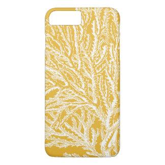 黄色および白い珊瑚 iPhone 8 PLUS/7 PLUSケース