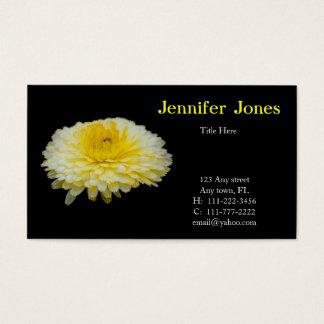 黄色および白い花の名刺 名刺