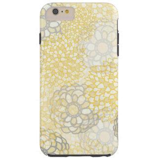 黄色および粘土の花の破烈のデザイン TOUGH iPhone 6 PLUS ケース