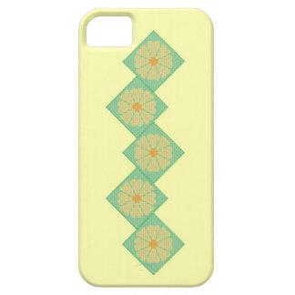 黄色および緑の花のボーダーiPhone 5の箱 iPhone SE/5/5s ケース