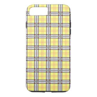 黄色および赤いタータンチェック格子縞パターン iPhone 8 PLUS/7 PLUSケース