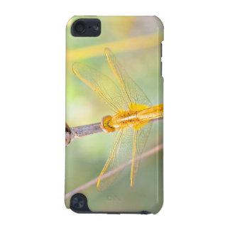 黄色および金ゴールドのトンボ iPod TOUCH 5G ケース