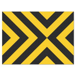 黄色および黒いシェブロンのティッシュペーパー 薄葉紙