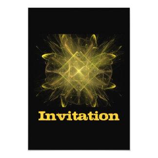 黄色および黒いフラクタル カード
