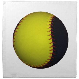 黄色および黒い野球/ソフトボール ナプキンクロス