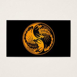 黄色および黒い陰陽の蠍 名刺