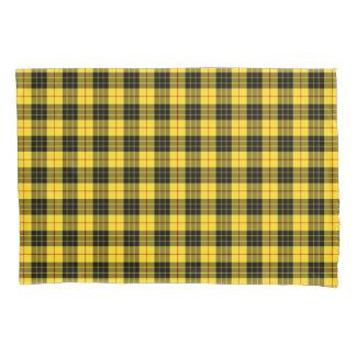 黄色および黒いMacLeodの一族のスコットランド人の格子縞 枕カバー