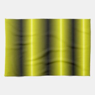 黄色および黒くストライプな《昆虫》マルハナバチのデザイン キッチンタオル