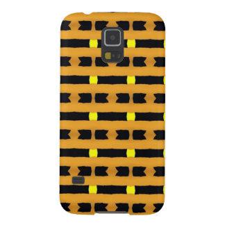 黄色および黒で幾何学的 GALAXY S5 ケース
