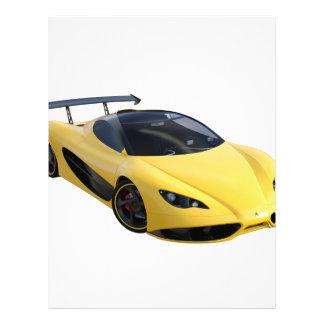 黄色および黒のお洒落な高性能車 レターヘッド