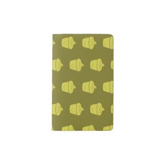 黄色くかわいいカップケーキ ポケットMoleskineノートブック