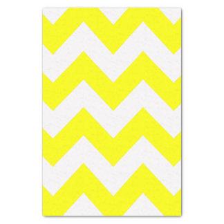 黄色くはっきりしたでモダンなシェブロン 薄葉紙