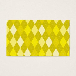 黄色くアーガイル柄のなパターン 名刺