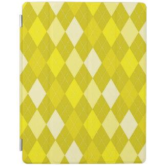 黄色くアーガイル柄のなパターン iPadスマートカバー