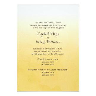 黄色くグラデーションな水彩画 カード