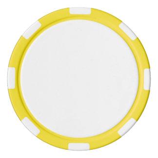黄色くストライプのな端が付いているポーカー用のチップ カジノチップ