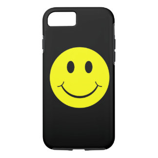 黄色く幸せなスマイリーフェイスのiPhone 7の箱 iPhone 8/7ケース