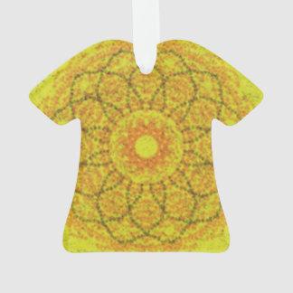 黄色く抽象的なパターン オーナメント