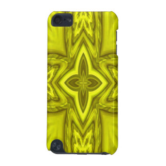 黄色く抽象的な木製の十字 iPod TOUCH 5G ケース