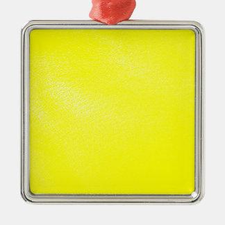 黄色く模造のなレザールック メタルオーナメント