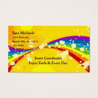 黄色く派手な虹セット 名刺