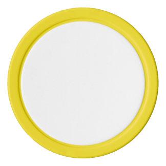黄色く無地のな端が付いているポーカー用のチップ ポーカーチップ